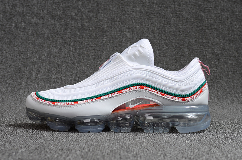 87ca2f5cc9e Undefeated Nike Air Max 97 VaporMax 2018 KPU White Green Red Men s Running  Shoes