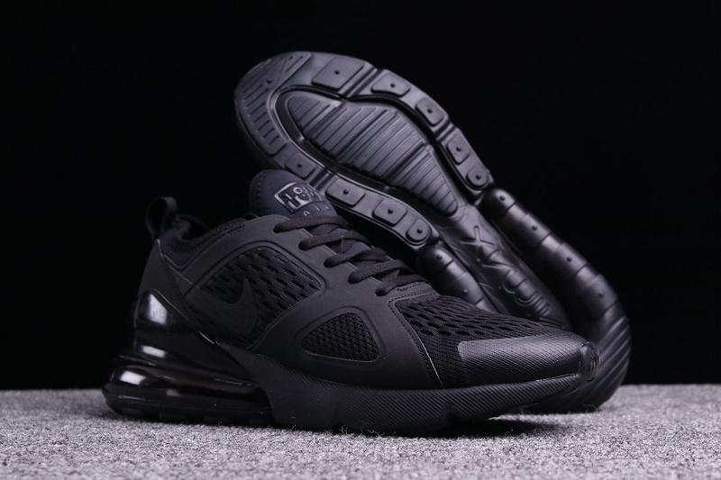 9ca5a1c72b Nike Air Max 270 By Air Max 180 Triple Black Men's Casual Shoes NIKE ...