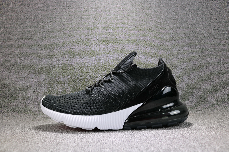 d32f30e866e Nike Air Max 270 Flyknit Black White AH8050 002 Women s Men s Casual Shoes