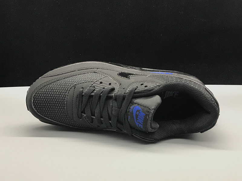 finest selection 7c0a4 a8a77 Nike Air Max 90 Black Blue Women's Men's Casual Shoes Sneakers NIKE-ST002747