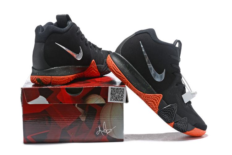 fb0dfd2ff68 Nike Kyrie 4 Black Silver Orange 943806 010 Men s Basketball Shoes ...