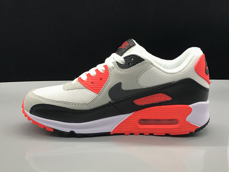 premium selection 2dfe2 75b13 Nike Air Max 90 Grey White Red Black Women's Men's Casual Shoes Sneakers  NIKE-ST002730