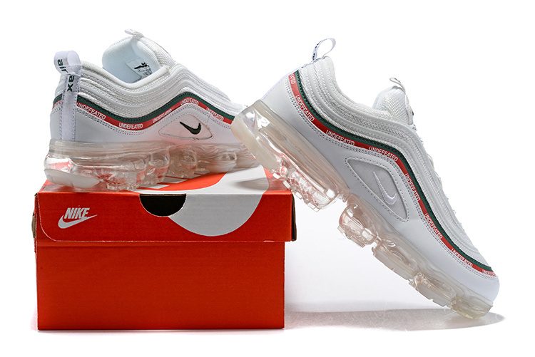 sports shoes 773c0 9eac3 hot nike air vapormax 97 silver bullet sail white red green mens womens  1260c 2a3c8