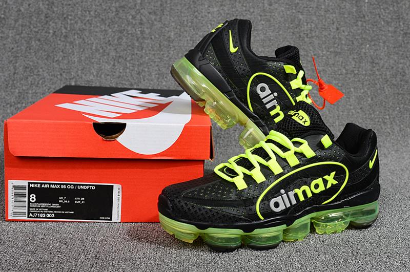 bbfdb7145dc Nike Air VaporMax 95 OG Undftd Kpu BIG LOGO Black Green Silver AJ7183 003  Men s Running