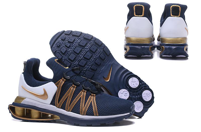 c125ed754bcbb9 Nike Shox Gravity Midnight Navy Metallic Gold AR1999 400 Men s ...