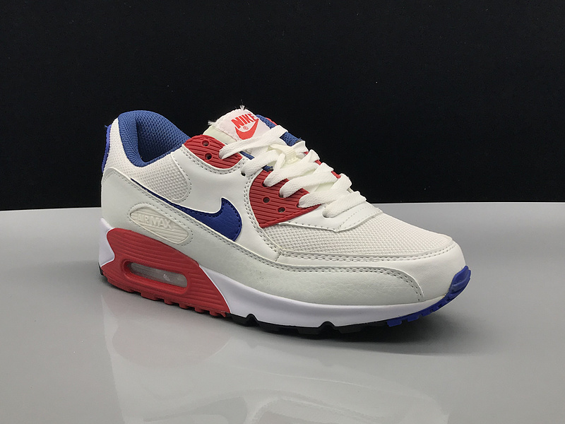 info for c5a40 45a00 Nike Air Max 90 White Royal Blue Red Women's Men's Casual Shoes Sneakers  NIKE-ST002749