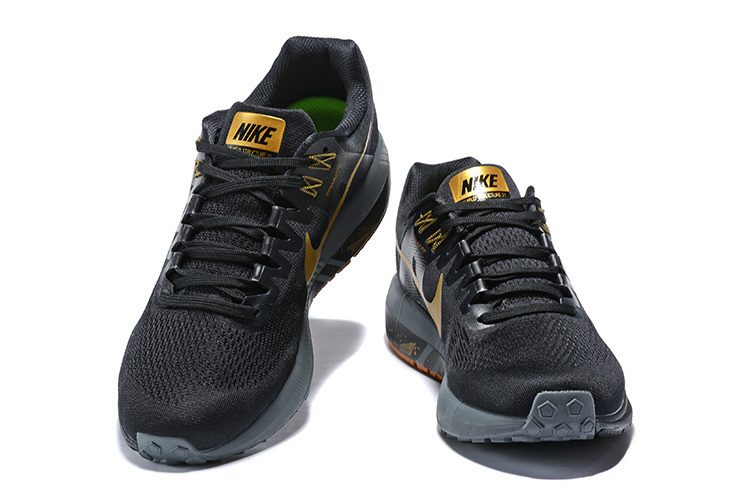3f0fb23bc Nike Air Zoom Structure 21 Black Metal Gold 904701 088 Men s Casual Shoes  Sneakers