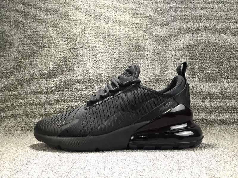 645f4563d7 Nike Air Max 270 Flyknit Triple Black AH8050 005 Men's Casual Shoes ...