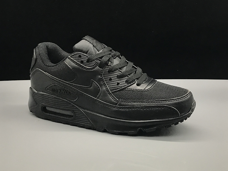 timeless design a9734 bcc7f Nike Air Max 90 Triple Black Women's Men's Casual Shoes Sneakers  NIKE-ST002735