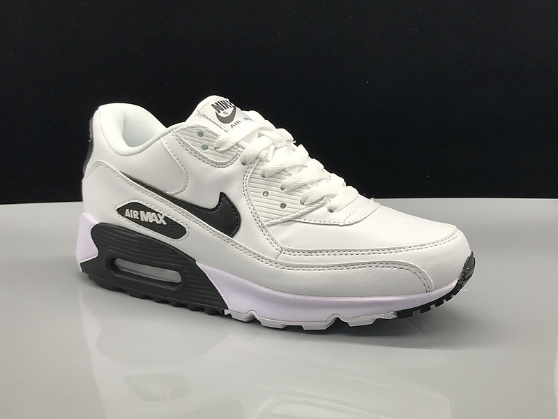 huge selection of 9111c ac04f Nike Air Max 90 Leather White Black Women's Men's Casual Shoes Sneakers  NIKE-ST002729