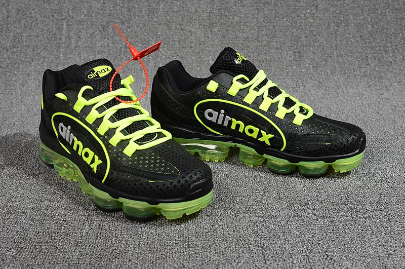 online retailer eb96f a7f8d Nike Air VaporMax 95 OG Undftd Kpu BIG LOGO Black Green Silver AJ7183 003  Men's Running Shoes AJ7183-003