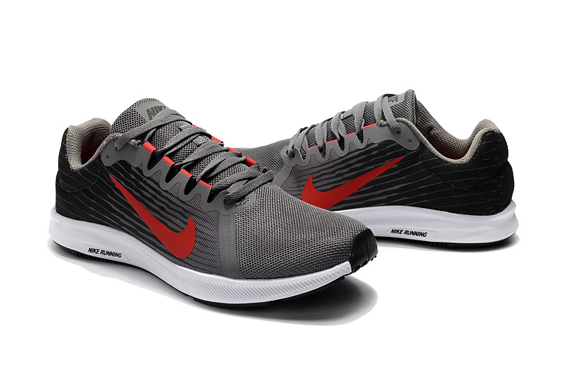 official photos 50255 ee221 Nike Downshifter 8 Grey Red White Men s Casual Shoes