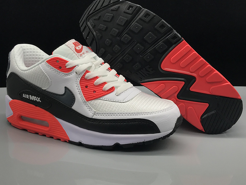 Nike Air Max 90 White Red Black Women's Men's Casual Shoes Sneakers NIKE ST002736