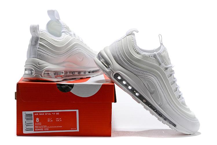Nike Air Max 97 UL 17 SE Ultra Triple White 924452 010 Women's Men's Footwear Running Shoe