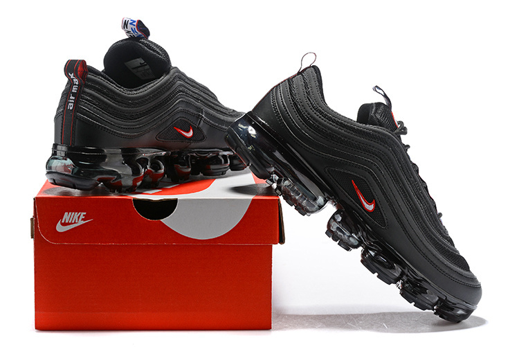 wholesale dealer 25a8e db081 Nike Air VaporMax 97 Silver Bullet Black Red Men's Women's Running Shoes  NIKE-ST002507
