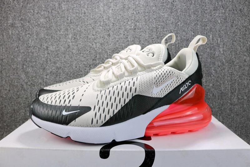 Nike Air Max 270 Flyknit Light Bone Hot Punch AH8050 003 Men's Casual Shoes AH8050 003