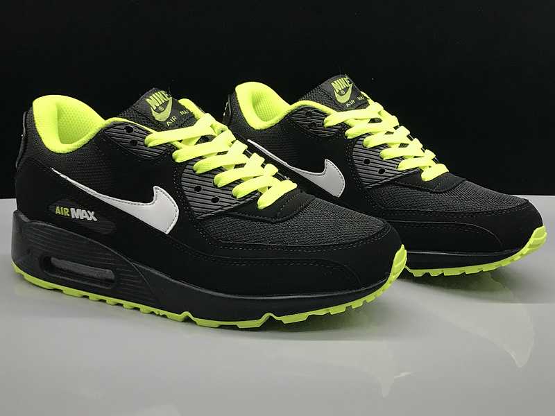 Nike Air Max 90 Black Green White Women's Men's Casual Shoes Sneakers NIKE ST002734