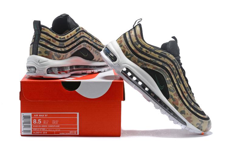 cc74b9377487 Nike Air Max 97 Premium QS County Camo Germany Bamboo Black Dk Khaki  Sequoia AJ2614 204