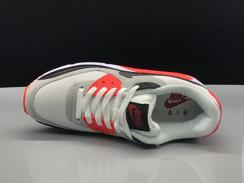 Nike Air Max 90 Grey White Red Black Women's Men's Casual Shoes Sneakers NIKE ST002730