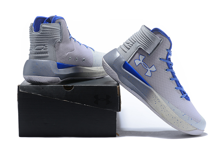 new styles fcf6c 7f7b1 Under Armour Steph Curry 3. 5 Wolf Grey Royal Blue White Men's Basketball  Shoes NIKE-ST002620