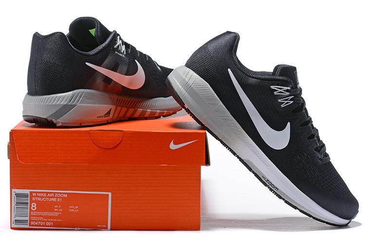 b88f2ae340b1b Nike Air Zoom Structure 21 Black Wolf Grey Cool Grey White 904695 001 ...