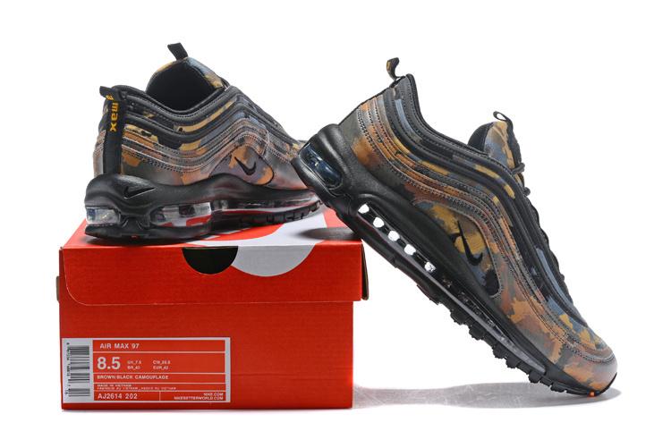 sneakers for cheap b14e7 8a017 Nike Air Max 97 Premium QS Country Camo Italy Ale Brown Black Cargo Khaki  AJ2614 202 Men's Running Shoes AJ2614-202a