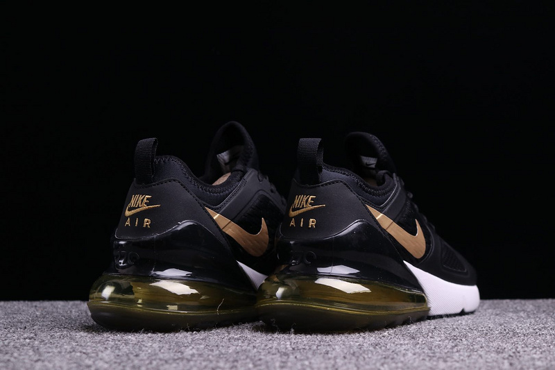 new product 44026 53fbb Nike Air Max 270 By Air Max 180 Black Gold White Mens Casual Shoes