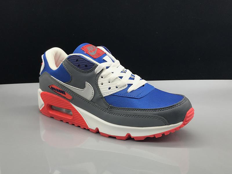 on sale 6a5ec 7e7a2 Nike Air Max 90 Royal Blue White Grey Women s Men s ...