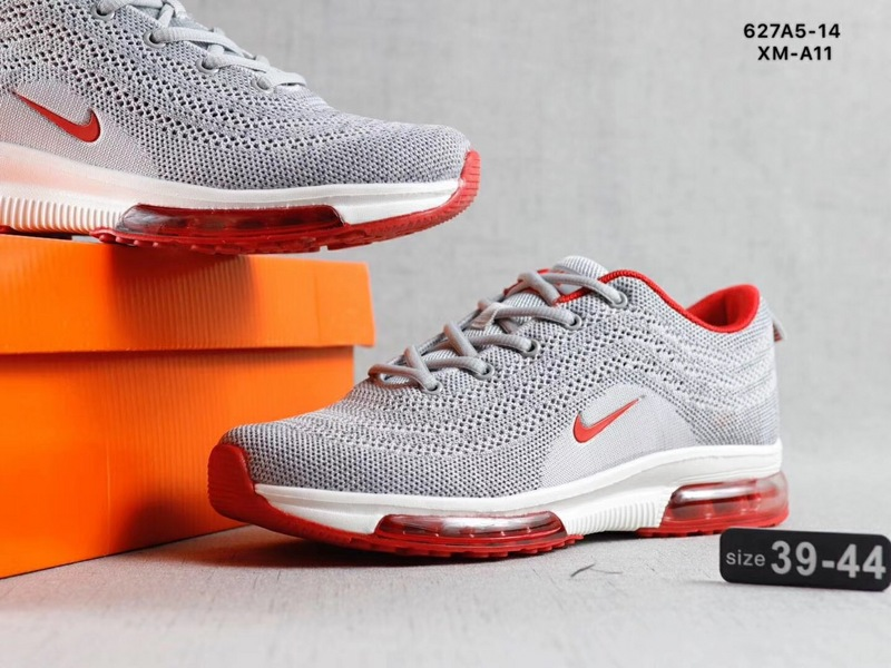 outlet store 7ea61 daef3 Nike Air Max Vapormax Flyknit Wolf Grey Red White Men's Running Shoes  NIKE-ST002725