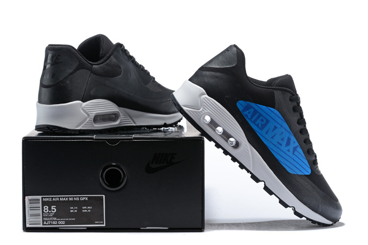4c96c65340a4b Nike Air Max 90 NS GPX Big Logo Black Laser Blue AJ7182 002 Men's ...