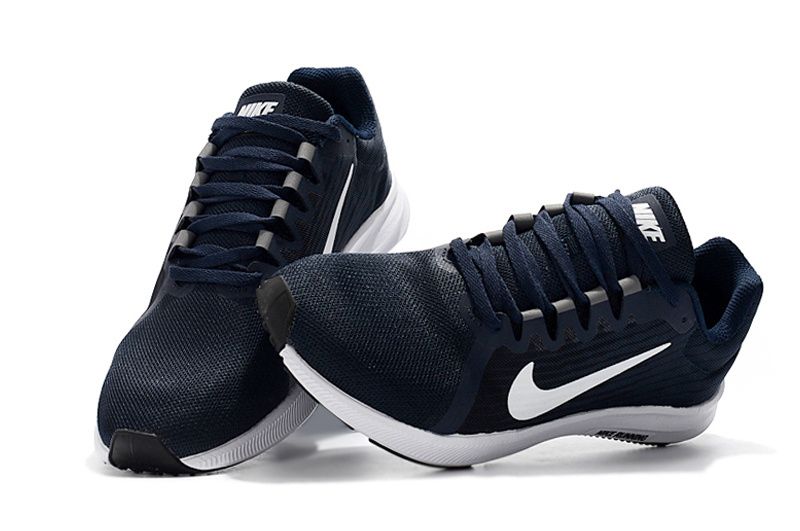 14f9270af88b8a Nike Downshifter 8 Midnight Navy White Dark Obsidian Black Men s Casual  Shoes