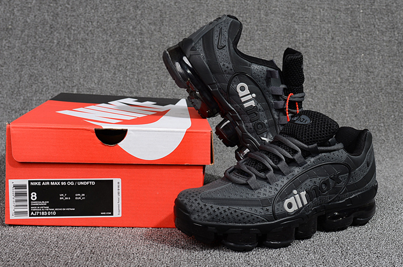 32df41ac25 Nike Air VaporMax 95 OG Undftd Kpu BIG LOGO Black Grey White AJ7183 ...
