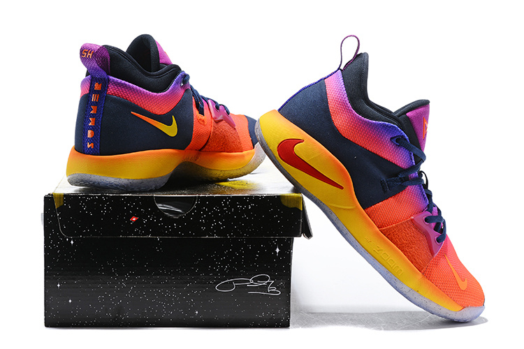 new concept 0f7f9 24f2b Nike Paul George PG 2 Summer Multi-Color Men's Basketball Shoes  NIKE-ST002622
