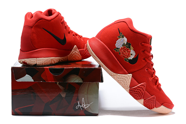 low priced 534c6 54983 Nike Kyrie 4 Chinese New Year University Red Black 943807 600 Men's  Basketball Shoes 943807-600