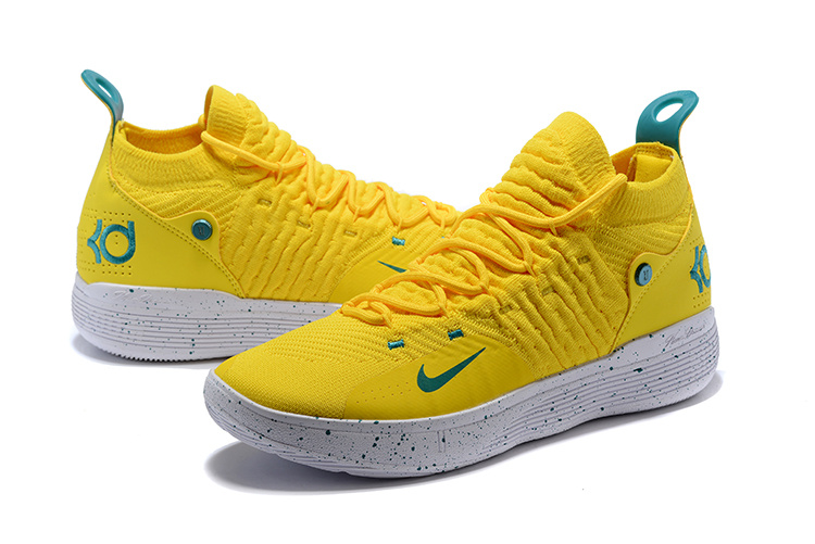 619fd901ede6 Nike Zoom KD 11 EP Bright Yellow Storm Team Men s Basketball Shoes ...