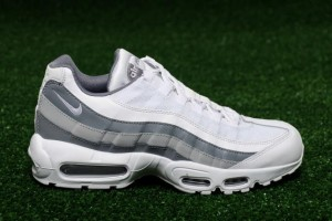free shipping eaf0e 4a329 Nike Air Max 95 Essential White Cool Grey Wolf Grey 749766 105 Men s Casual  Shoes