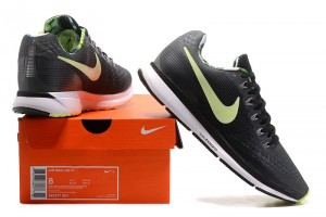 ac3d5eff5db9a Nike Air Zoom Pegasus 34 FlyEase Dark Grey Black White Barely Volt 883271  001 Men s Casual