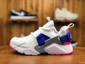 on sale 5d653 9aae5 Nike Air Huarache City Low White Concord Laser Pink Wolf Grey AH6804 101  Women s Casual Shoes