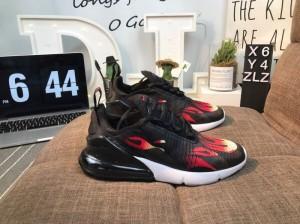 226d8cb74641 Supreme x Nike Air Max 270 Thunderbolt Black Red White Women s Men s Casual  Shoes