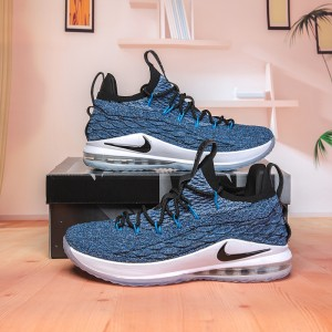 475364c75a3 Nike Lebron James 15 XV Low Signal Blue Thunder Grey AO1755 400 Men s  Basketball Shoes