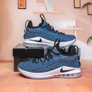 123e630c165 Nike Lebron James 15 XV Low Signal Blue Thunder Grey AO1755 400 Men s  Basketball Shoes