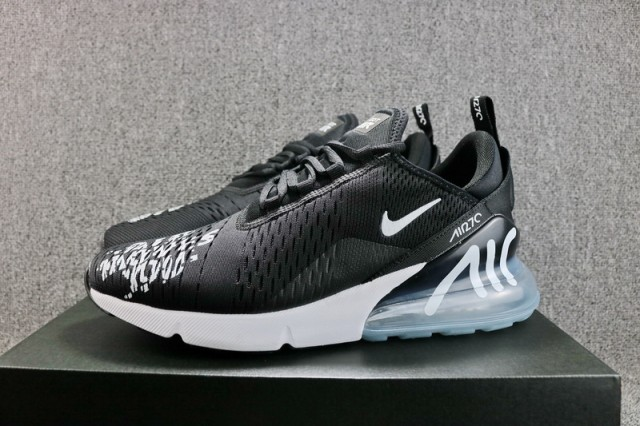 Nike Air Max 270 Flyknit Aire Hombres Te Mueve Bq0742 991 Hombres Aire Negro Blanco 790d13