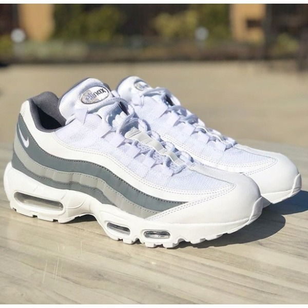 free shipping 5b72d 5701e Nike Air Max 95 Essential White Cool Grey Wolf Grey 749766 105 Men s Casual  Shoes