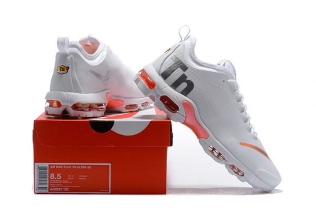 Hombres Tn Nike Air Max Mercurial Tn Hombres Naranja Negro Blanco Aq0242 100 Corriendo 4141b1