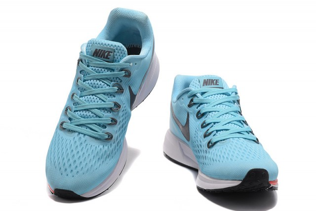 3370a6c892434 Nike Zoom Pegasus 34 FlyEase Ice Blue Blue Fox Bright Crimson White 880560  404 Men s Casual