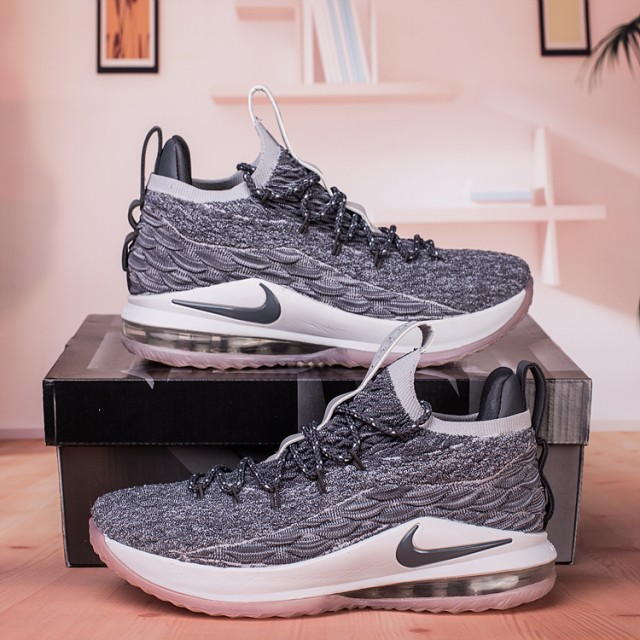 sale retailer 86d74 49d3b Nike Lebron James 15 XV Low Wolf Grey White Men's Basketball Shoes  NIKE-ST003207
