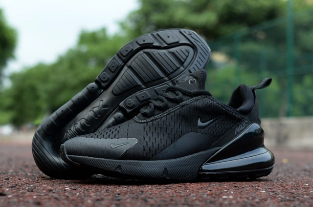 buy popular 03b50 09d43 Nike Air Max 270 Triple Black Men's Casual Shoes NIKE-ST002972