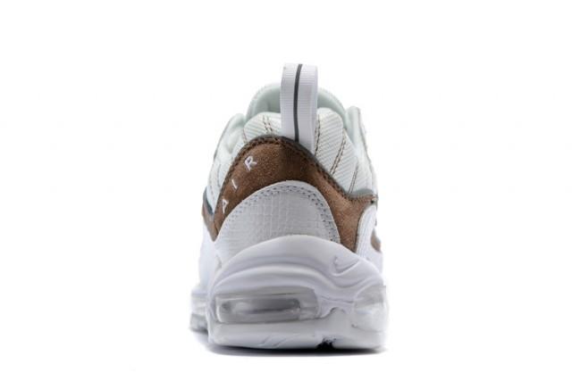 the latest b131b 0fdb1 Nike Air Max 98 Snakeskin Cream White Brown White AO9380 100 Men's Running  Shoes AO9380-100a