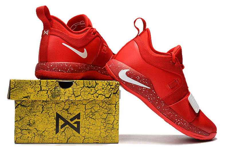 11076d634243 Nike Paul George PG 2. 5 Bright Red White Men s Basketball Shoes ...