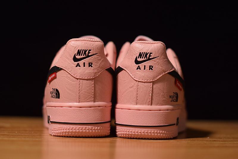 c26bb1c991d9 Supreme x The North Face x Nike Air Force 1 Pink Black AR3066 800 Men s  Women s